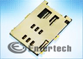 SIM Card Holder FMS006, SMD(6)