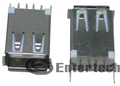 Socket USB kiểu A, cái, thẳng